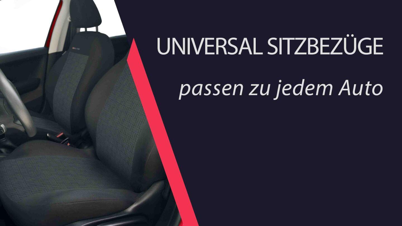 UNIVERSAL SITZBEZÜGE passen zu jedem Auto