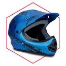 Motorradhelm Blau-Schwarz Matt Kinder ab 3 Jahre Enduro...