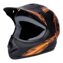 Motorradhelm Schwarz-Orange Matt Kinder ab 3 Jahre Enduro...