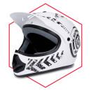 Motorradhelm Weiß- Schwarz Matt Quad Damen Herren...