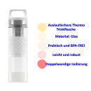Thermoflasche SIGG Hot & Cold GLAS 400ml Trinkflasche...