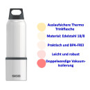 Thermoflasche SIGG Hot & Cold 300/500/750ml Edelstahl...